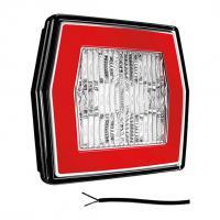 LED achteruitrijlamp met achterlicht 12/36V 1m. kabel